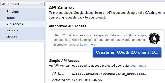 how to provide google api develop