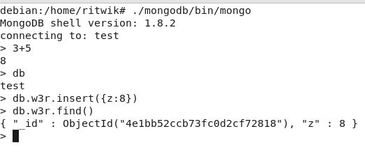 mongo first find linux
