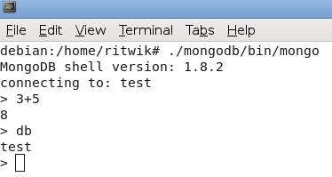 run mongo shell linux2