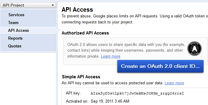 API-Access-Google-plus-API