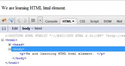 HTML html tag