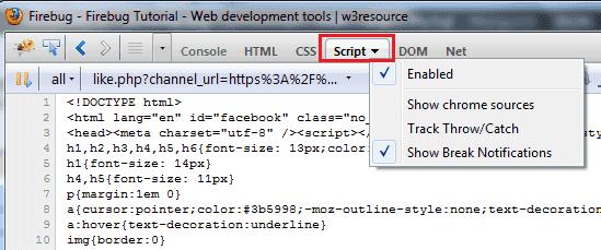 Script-panel