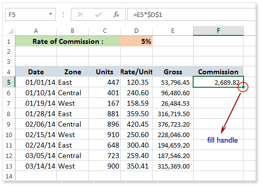 how to create an absolute reference in excel