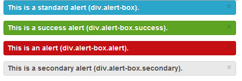 Alerts example