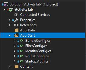 asp.net app start