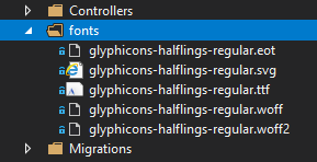 asp.net fonts