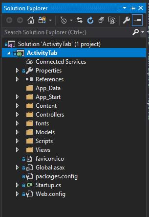asp.net solution explorer 1
