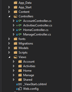 asp.net view folders for controllers