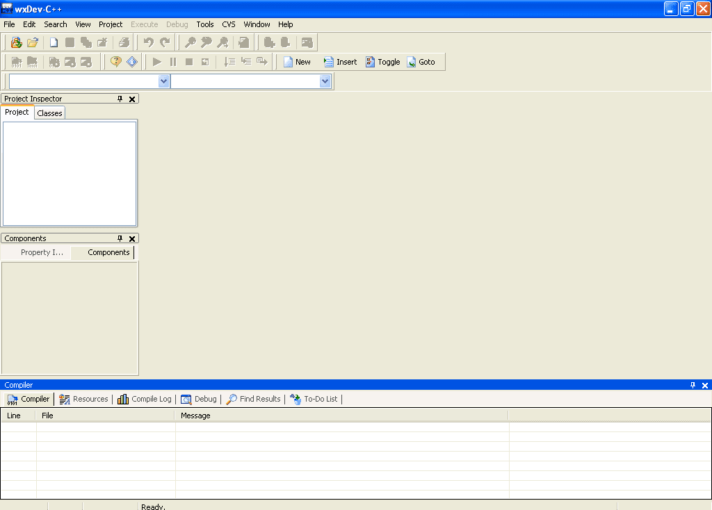 wxDev-C++ IDE Window