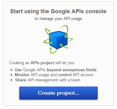 Create Project Google API Console
