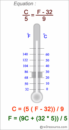 C# Sharp Exercises: Program to convert from celsius degrees to Kelvin and Fahrenheit