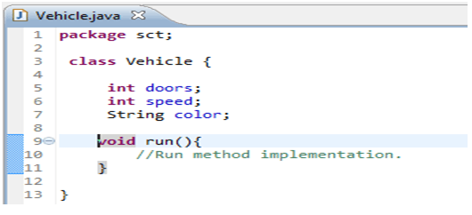 Java Class, methods, instance variables - w3resource