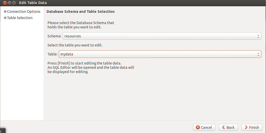 MySQL Workbench Edit table data step 2