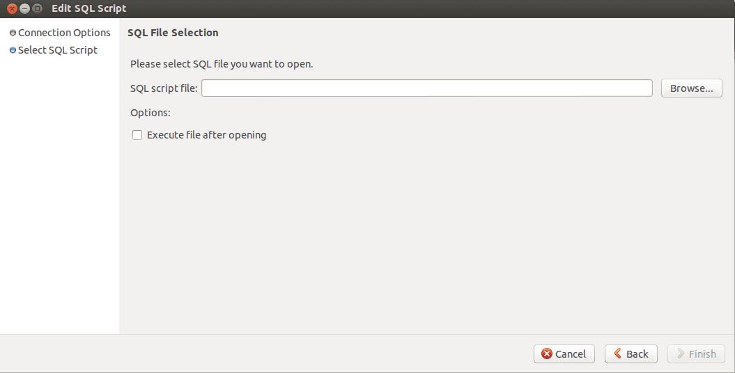 MySQL Workbench Edit sql script step 2