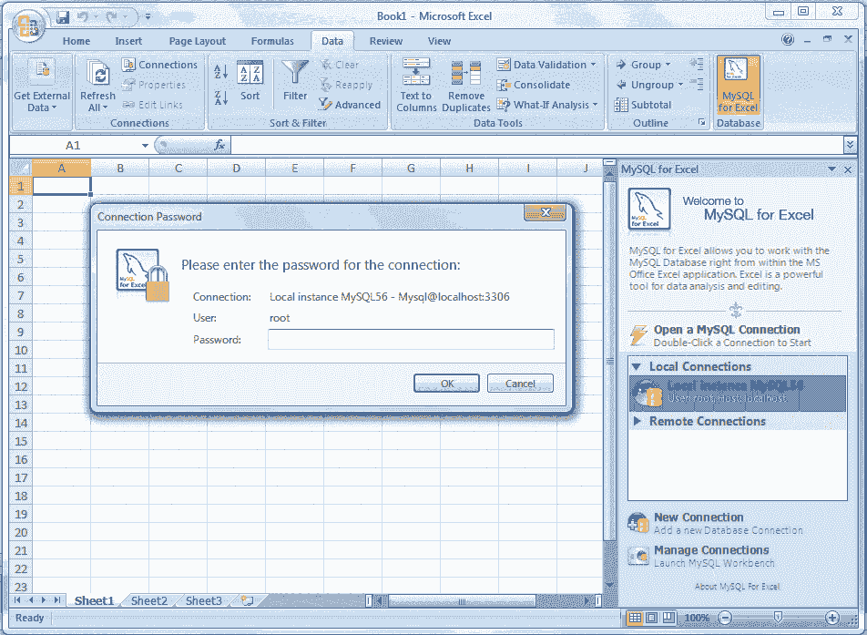 Exporting and importing data between MySQL and Microsoft excel