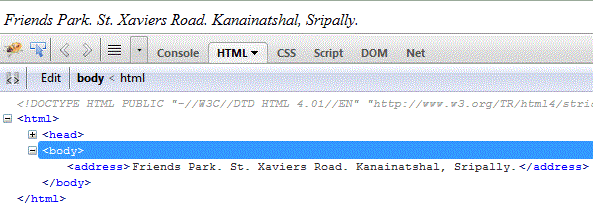html-address