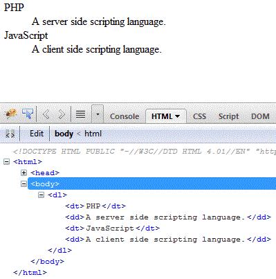 html-definition-list