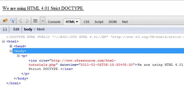 html-ins-tag