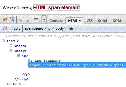 html span tag