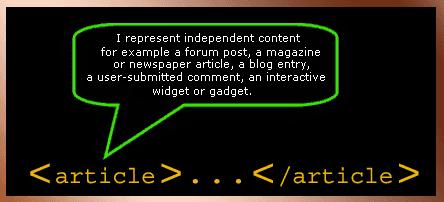 html5 atricle