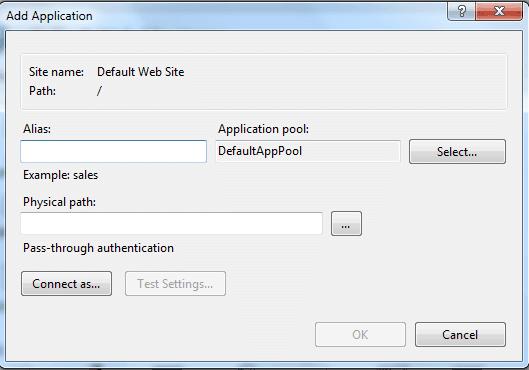 IIS CGI Add Application
