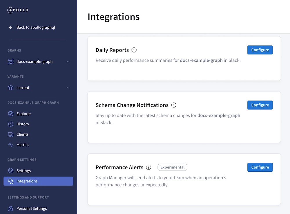 apollo graphql: integrating graph manager with slack integrations image