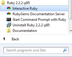 Ruby in windows