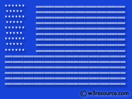 Java: Print an American flag on the screen