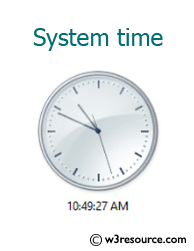Java: Display the system time