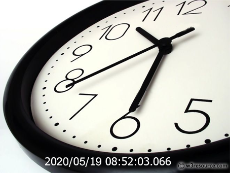 Java Exercises Display The Current Date Time In Specific