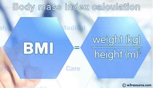 Java datatype Exercises: Compute body mass index (BMI)