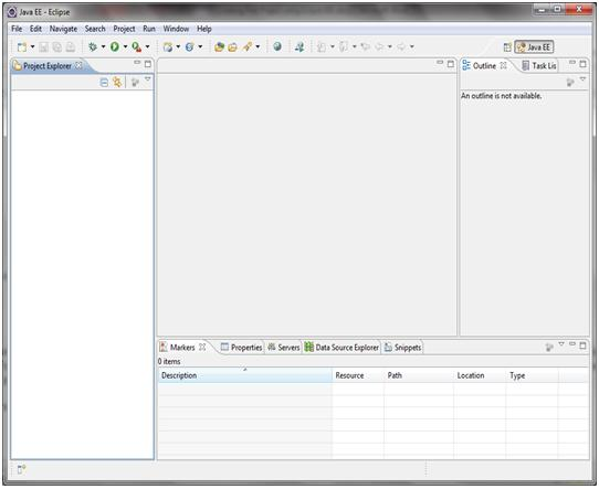 IDE workspace in java