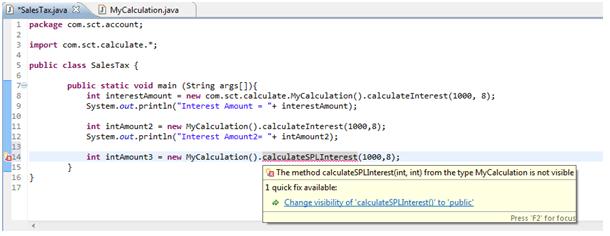 java method compiling error