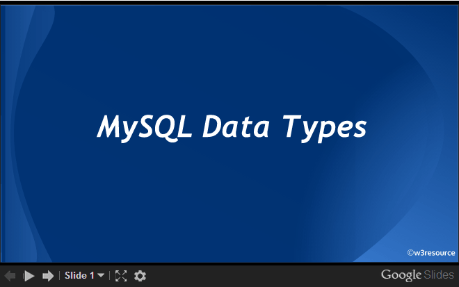 MySQL Data Types slides presentation