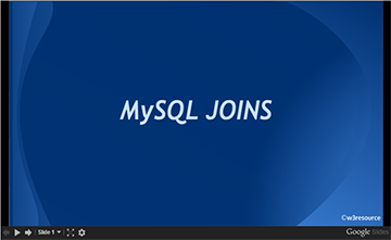 MySQL JOINS, slide presentation