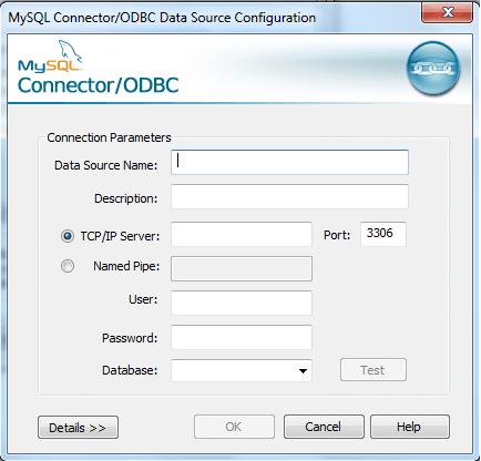 mysql odbc configuration-step3