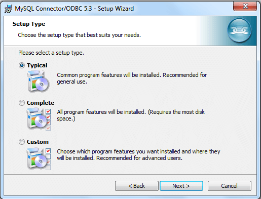mysql odbc install step4