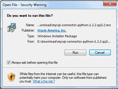 mysql python install step1