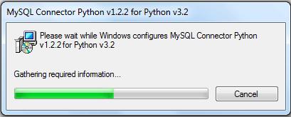 mysql python installs step2