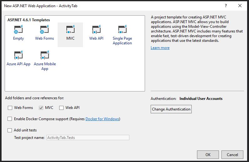 new asp.net web application