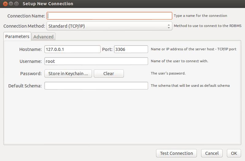 MySQL Workbench New Connection Step 2