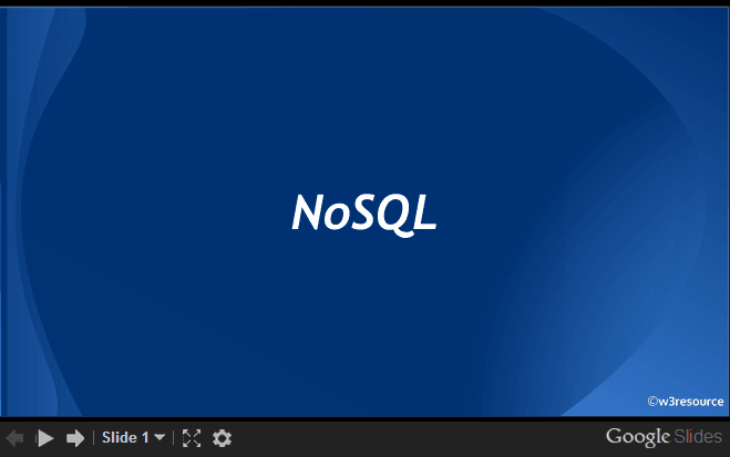 NoSQL, an introduction