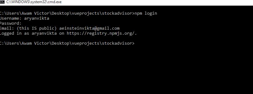 npm login