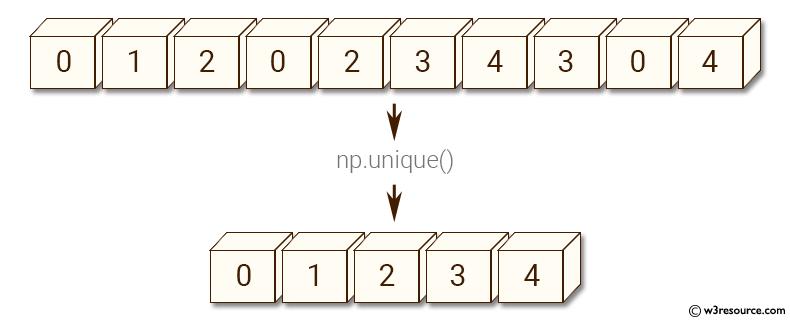 NumPy Array manipulation: unique() function - w3resource