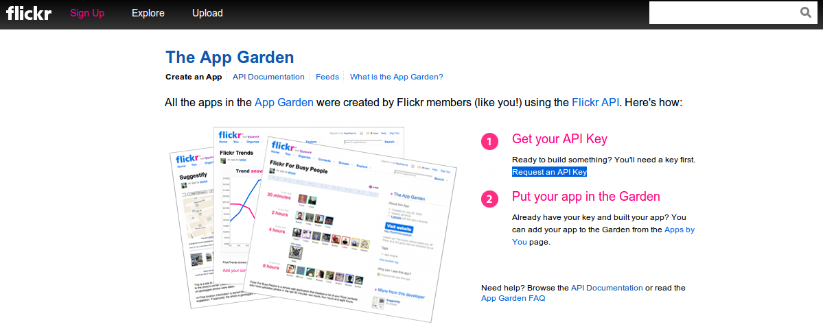 Creating your first application with Flickr API | w3resource
