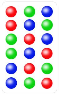 Different permutation of three distinct balls