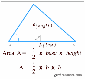Python: Accept the base and height of a triangle and compute the