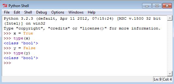 Python Boolean Type