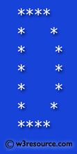 Python Exercise: Print alphabet pattern D