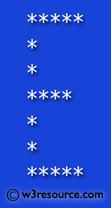 Python Exercise: Print alphabet pattern E